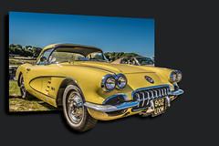 1958 Chevrolet Corvette C1 (Suggsy69) Tags: classic chevrolet car yellow photoshop nikon classiccar 1958 corvette c1 brandshatch outofframe chevroletcorvettec1 d5200