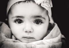 48 / 52 (*KIKITA*) Tags: blackandwhite baby cute girl utah toddler pretty child olivia naturallight bow latin caucasian 50mm18 portraitphotography nikond90 losangelesportraitphotographer erickagiuliani