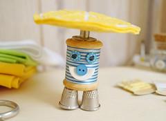 Que tal o meu chapu? (BoniFrati) Tags: cute diy craft felt feltro coaster tutorial pap molde bonifrati portacopos
