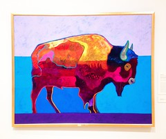 Buffalo (ekelly80) Tags: art colors painting washington buffalo tacoma tam tacomaartmuseum johnnieto january2015