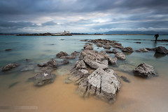 Infinity Land II (MANUELup) Tags: longexposure blue seascape green tower island rocks sailing photographer cloudy infinity calm land santander cantabria