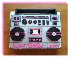 Boombox cake by Christine, Linn County, IA, www.birthdaycakes4free.com
