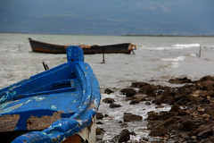 Abandoned boats... (GeorgeKats) Tags: blue sea seascape abandoned beach outside outdoors boat abandonment