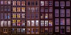5 Buildings (Box of Chocolates) (karinavera) Tags: city longexposure travel windows urban holland building window amsterdam architecture night framed damrak nikond5300
