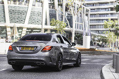 C63s. (Gal cho photography) Tags: world road street cars love car canon germany photography 50mm grey one mercedes benz 1 israel photo telaviv cool earth tel aviv super best exotic gal photograph mercedesbenz polarizer edition rare cho supercar 650d c63 edition1 c63s chobotaro