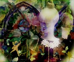 A Spring Fairytale (abstractartangel77) Tags: door green mannequin muted