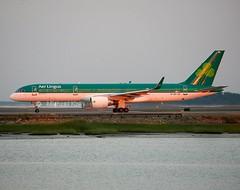 Aer Lingus (ASL Airlines)                      Boeing 757                               EI-LBS (Flame1958) Tags: dusk loganairport boeing aerlingus 757 bostonloganairport asl 2014 boeing757 b757 0714 bostonairport 180714 eilbs aerlingusb757 aslairlines aslb757