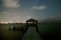 The Dock (Justin Ackerman) Tags: longexposure beach night atlantic nagshead sound