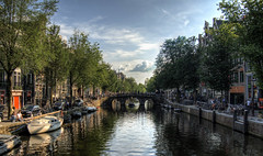 A canal in Amsterdam (neilalderney123) Tags: holland water amsterdam landscape canal cityscape olympus omd 2016neilhoward