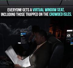طرح مفهومی هواپیمایی بدون پنجره! (hodhodmagzine) Tags: سفر علم تکنولو فنآوری