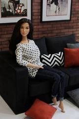 Wonder Woman Barbie doll (Mrs.Gataguk) Tags: doll barbie wonderwoman mattel diorama barbiedoll wonderwomanbarbie dolldiorama dollsofa scalefurniture diorama16 dawnofjustice