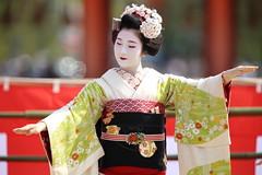 Special event at Heian shrine (Teruhide Tomori) Tags: portrait festival japan lady dance kyoto stage performance event maiko   kimono tradition japon       heianjingushrine