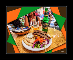 Gyro y Mythos en Katkolon / Gyro and Mythos in Katakolon (eserrano13) Tags: food beer colorful comida cerveza greece grecia mythos gyro colorido katakolo
