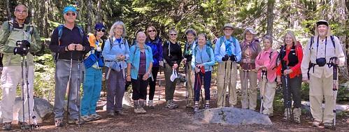 Leaving the Glacier Basin trailhead
