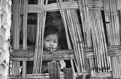 c20160527_810_8922-2-Edit (youngman242) Tags: vietnam ninhthuan family house child mother window bamboohouse bw monochrome