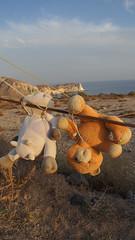 92-Santorin_Akrotiri Vounia (maxie.anerev) Tags: santorin akrotiri griechenland insel kste ufer stofftier kunst deviant art skulptur baum sand