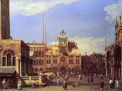 Canaletto - The Nelson-Atkins Museum of Art 55-36. The Clock Tower in the Piazza San Marco (c. 1728-1730) (lack of imagination) Tags: people animals buildings blog cityscape nelsonatkinsmuseumofart canaletto 7001000