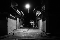 It's the dark alleys / fake star (zgr Grgey) Tags: street shadow bw lines 35mm evening lowlight nikon istanbul d750 darkcity 2016 unkapan dxonfx