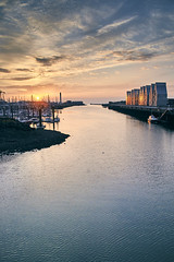 Panoramic view from the bridge in Dunkerque (Quartonet) Tags: city travel panorama france color style dunkerque wael minolta2485 sonyalpha sonya850