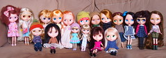 Group picture (Tales of Karen) Tags: red two love girl fruit vintage for tea cinnamon melanie rr rosebud prototype blonde lad mysterious mission guava t42 kenner punch brunette custom simply 1972 raven nicky roaring mademoiselle sbl adg bl ebl repaint rbl ubique middie
