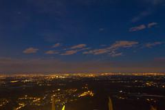 Vista da Montevecchia (Marta Panzeri) Tags: sky panorama night clouds landscape lights nuvole cloudy cielo valley po luci plain notte pianura nuvoloso padan padana parly