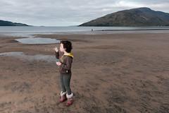 Helen on Glenelg Beach (Ian_Boys) Tags: portrait beach scotland fuji flash helen fujifilm glenelg 2016 strobist saberstrip sb910 x100t