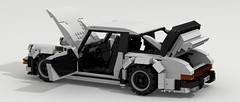 Porsche 911 Turbo (side open) (Tom.Netherton1) Tags: city classic cars scale car vw digital race speed vintage germany power lego pov designer 911 large super turbo german porsche legos download 1970s 1980s supercar dropbox speedster 930 racer povray ldd lxf