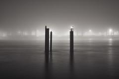 Silence (sgt.floydpepper.hh) Tags: nature monochrome fog architecture harbor fuji hamburg xe1 xf2314r