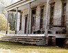 Hotel Porch (joeldinda) Tags: building museum hotel minolta zoom 110 scanned 1981 upperpeninsula weatheredwood historicsite fayettestatepark
