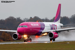HA-LWF Wizz Air Hungary Airbus A320-232 cn3562 (Nigel Blake, 13 MILLION...Yay! Many thanks!) Tags: uk mist storm color colour london wet rain weather airplane lights flying airport hungary aircraft aviation air flight bedfordshire aeroplane spray airbus colored raining coloured luton inclement wizz a320232 halwf cn3562