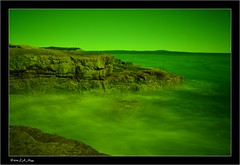 (The Pootie (Lisa)) Tags: ocean green landscapes rocks maine filter acadia slowexposure weldingglass