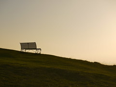 Alone but not lonely (blueachilles) Tags: mist bench cotswolds gloucestershire emptyseat cheltenham hbm cleevehill benchmonday ditookthis