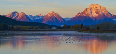 Teton dawn (Nancy Reynolds) Tags: nationalpark wyoming tetons oxbowbend