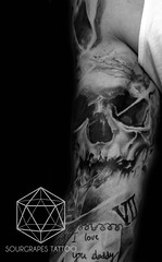 Skull Realistic Black and Grey Tattoo (13.22 Tattoo Studio) Tags: old uk portrait baby moon west flower colour london eye art clock geometric church girl rose closeup tattoo illustration angel skeleton religious foot japanese skull photo artist ship child hummingbird hand veil heart arm mechanical lotus geometry buddha watch fine feather bigben bio superman line xmen batman pharaoh rib script custom handprint sleeve logos compass gentleman pac dreamcatcher realism chicano coverup realistic triforce sourgrapes eygptian blackandgrey s0urgrapes