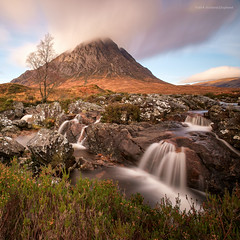 It wouldn't be Glencoe without Buachaille Etive Mor... (Damon Finlay) Tags: longexposure bw mountains river scotland waterfall highlands long exposure fuji 10 scottish stop filter r glencoe wilderness fujinon f4 buachaille etive xf ois scottishhighlands highlandsandislands xe1 buachailleetivemòr nd110 coupall rivercoupall 1024mm mòr bwnd11010stopfilter fujixe1 fujinonxf1024mmf4rois