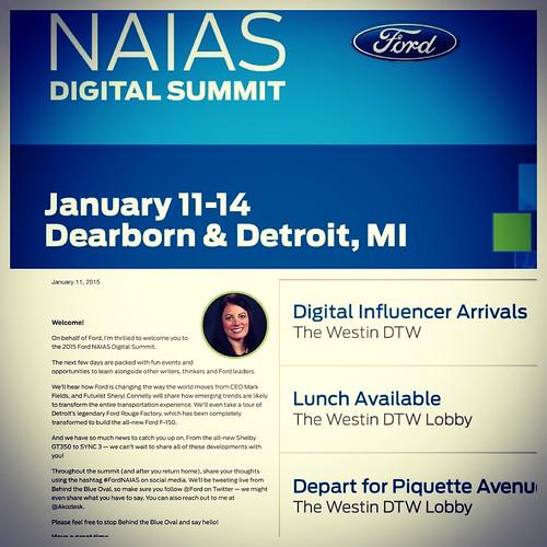 Le foto esclusive del Naias 2015 di Detroit #fordnaias #naiasdetroit @forditalia #senzatimore @ford