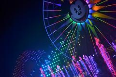 Rainbow Pier (KEBSD) Tags: world california color water wheel night fun mouse photography rainbow colorful disneyland disney mickey nighttime mickeys disneycaliforniaadventure screamin