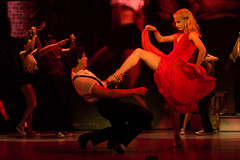 """Samuel Pergande (Johnny) and Jenny Winton (Penny) in the Broadway Sacramento presentation of """"Dirty Dancing – The Classic Story On"""" Stage at the Sacramento Community Center Theater Dec. 26, 2014 – Jan. 4, 2015. Photo by Matthew Murphy."""