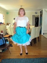 Frilly (Trixy Deans) Tags: cute classic tv cd crossdressing tgirl tranny transvestite transgendered crossdresser crossdress skirts tg transsexual classy shemale trixy tgirls shemales transvesite tgurl officeattire trixydeans tgrl