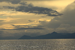 sunset after rain (spicros78) Tags: sunset sea sun rain yellow afternoon explore greece attica