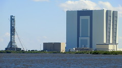VAB and SATURN-V launch tower at NASA Kenney Space Center: (Traveller-Reini) Tags: usa florida space nasa capecanaveral ksc
