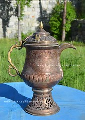 Ancient samovar, Khaplu Lodge (Ameer Hamza) Tags: pakistan travelling beautiful beauty ancient north craft tourist lodge jug historical piece brass samovar traveler ppa crafted 2013 khaplu ameerhamzaadhia