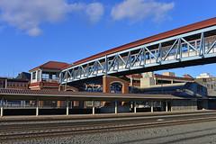 Crossing, Altoona, PA (Thumpr455) Tags: railroad bridge sky station architecture clouds nikon pennsylvania pa d800 altoona afnikkor3570mmf28d