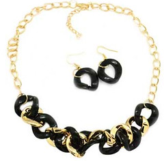 5th Avenue Black Necklace K4 P2140-3