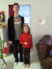 Easily Dwarfed (evamadera) Tags: christmas family kitchen tallest shortest