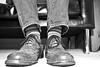 Jan. 10, 2015-10 (cvorhisphoto) Tags: blackandwhite cold feet socks photography dallas shoes texas photographer stripes january jeans photoaday kennethcole 2015
