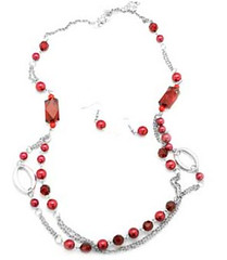 Limited Cranberry Beads and Pearls P9002C