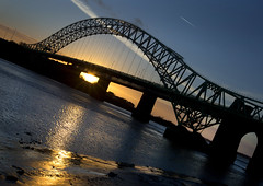 Across the Mersey (Greater Manchester Police) Tags: widnes rivermersey runcornbridge silverjubileebridge britanniabridge widnesbridge ethelfledabridge