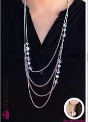 5th Avenue White Necklace P2610A-1
