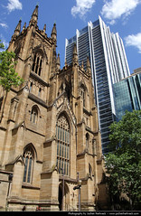 St. Andrew's Cathedral & Lumiere Residences, Sydney, Australia (JH_1982) Tags: new building church saint st wales architecture skyscraper de religious san andrews cathedral south religion gothic sydney catedral australia landmark christian lumiere nsw highrise christianity australien spiritual anglican andrs edmund australie residences revival diocese    blacket     sdney